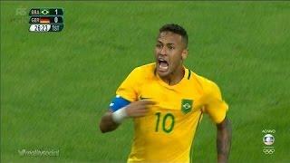 Neymar AMAZING Freekick Goal 1-0 - Brazil vs Germany - Final Rio 2016 HD