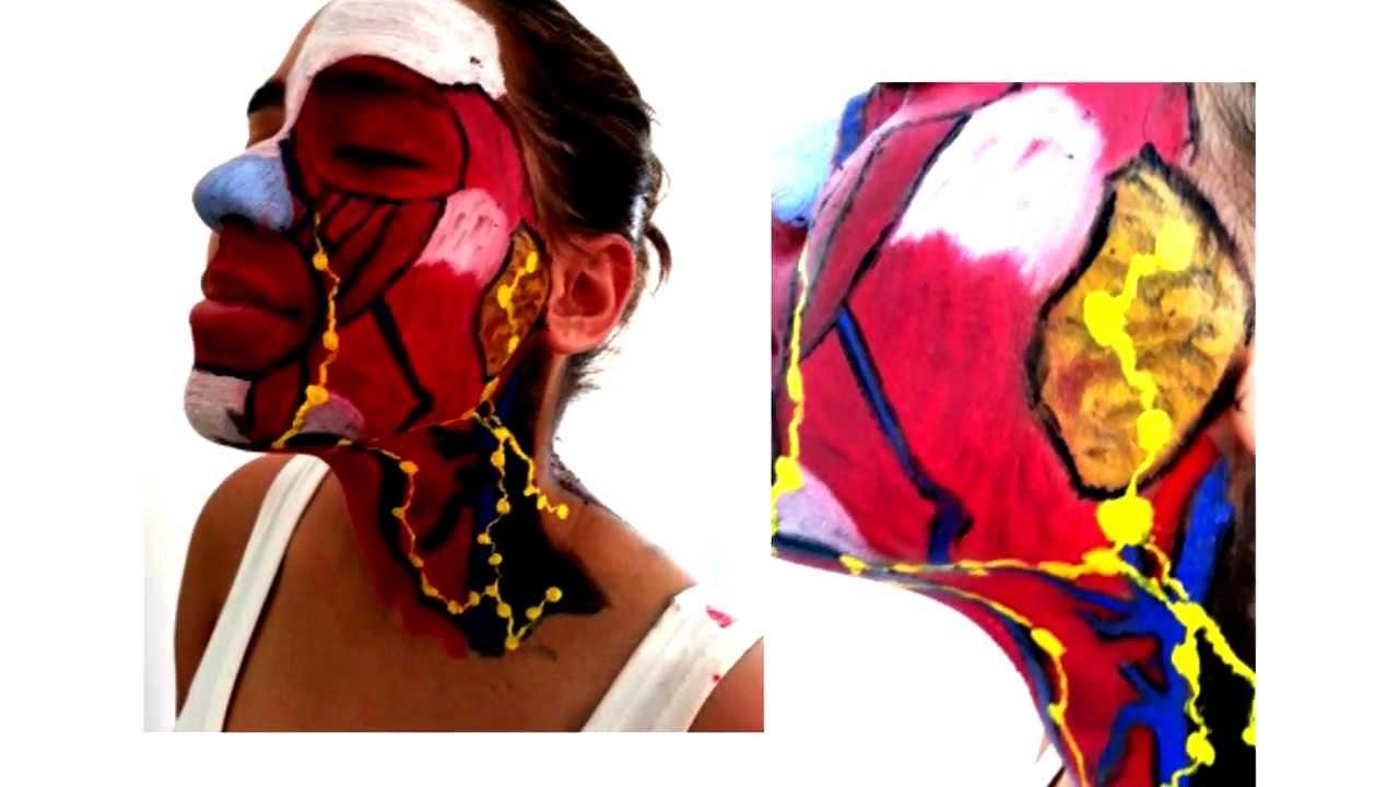 Paint Body Anatomia - Sistema Linfático - Cabeça e Pescoço