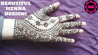 Indian Style Henna - Easy Bridal Mehendi Design - Simple Mehndi Tattoo for Palm