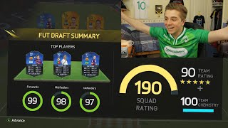 FIFA 16 - MY BEST OF 50 DRAFTS | THE FABLED 190!