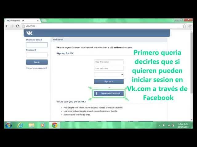 Tutorial de Vk Vk.com CГmo registrarse en Vk