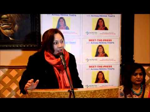 Meet-the-Press-with actress Rekha Thapa in New York by NMA USA Jan 27 2013