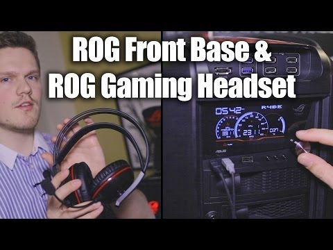 Asus CES 2014 - ROG Gaming headset and Front Base