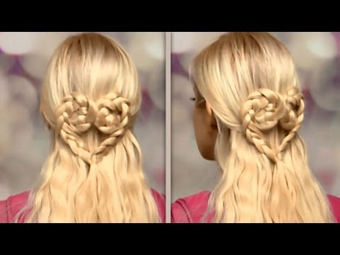 Braided Heart Hairstyle For Long Hair Tutorial