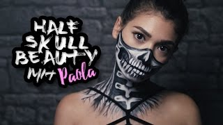 Half Skull BEAUTY Painting (MIT PAOLA MARIA)  || FACEPAINTING || in 4K