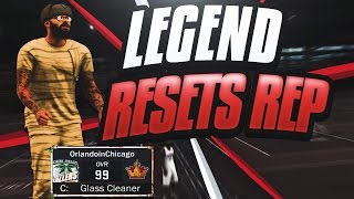NBA 2K17 I RESET MY REP - LEGEND TO ROOKIE