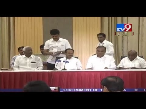 TS Ministers speaks to media after TRS Cabinet Meeting LIVE || Pragathi Bhavan || Hyderabad - TV9