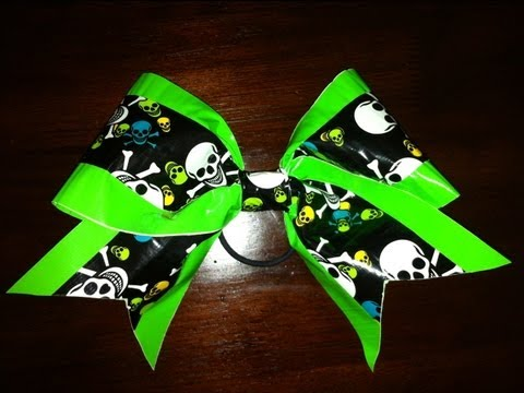 How To Make a Big Cheer Bow with Duct Tape