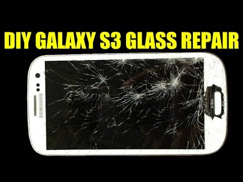 DIY SIMPLE Galaxy S3 Glass Repair Screen Replacement $5 Dollars Cracked Broken Shattered LCD