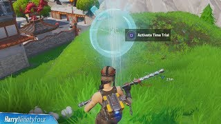 Complete a Time Trial North of Lucky Landing or East of Snobby Shores Location Guide - Fortnite