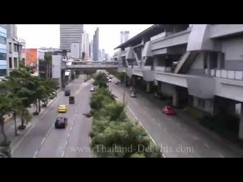 Sky Train ride from Krung Thon Buri to Wong Wian Yai, Bangkok, Thailand.