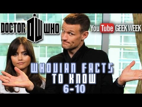 Doctor Who's MATT SMITH & JENNA COLEMAN: 10 Whovian Facts You Need to Know (6-10) - Geek Week