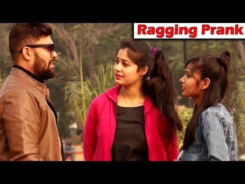EPIC Ragging Prank on Cute Girls  Pranks in India 2019  Unglibaaz