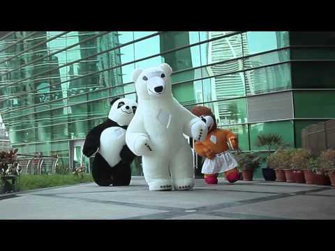 Белый медведь,Панда,Львица в Дубаи ОАЭ