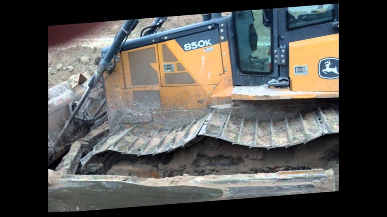 John Deere 850 K Bulldozer Broken Track Master Link Youtube