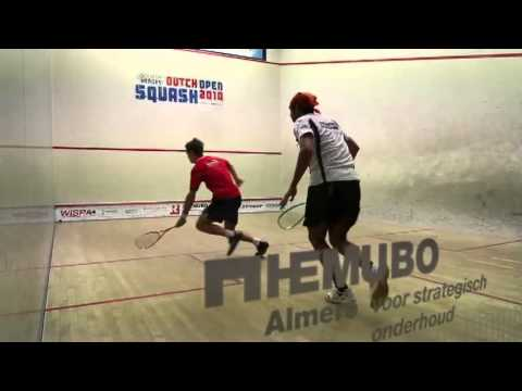Laurens Jan Anjema versus Hisham Ashour Dutch Open Squash 2010