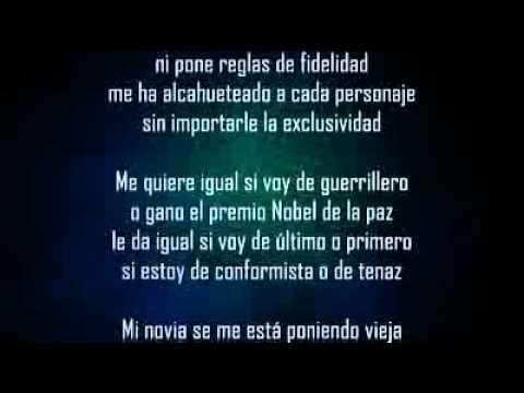 Ricardo Arjona - Ricardo Arjona- Mi novia se me est� poniendo vieja  (LETRA).
