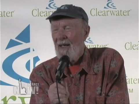 Pete Seeger answers questions on his 90th Birthday. Democracy Now 5/4/09 3 of 15