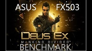 ASUS FX503VD-DM108T  GAME BENCHMARK(2019)