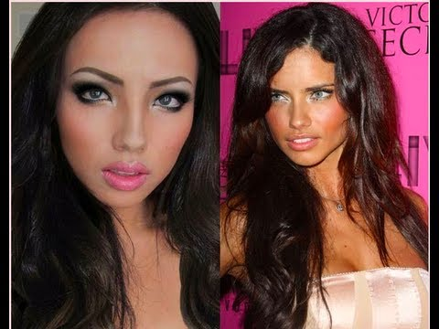 Adriana Lima Make-up Transformation !!!