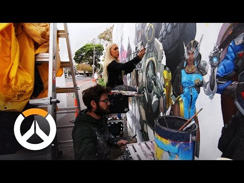 Overwatch Mural Time Lapse   Sydney, Australia