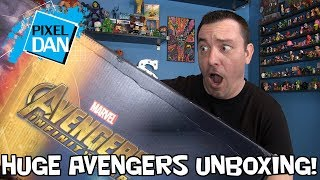 Avengers Infinity War Massive Hasbro Mystery Box Unboxing - Marvel Legends, Titan Heroes, and More!