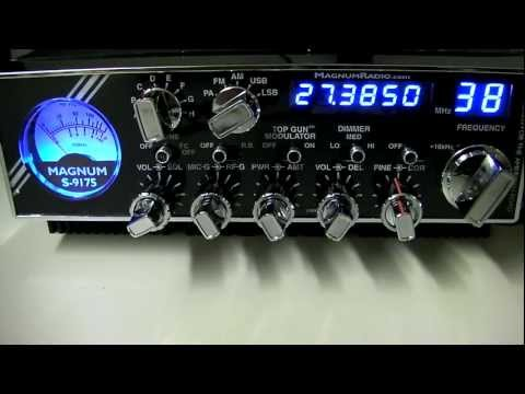 Magnum S9-175 AM FM SSB 10 Meter Export Radio Overview / Review new updated SX-175 Power Cabinet