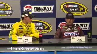 2013 NASCAR Sprint All Star Race Post Race: Joey Logano, Kyle Busch