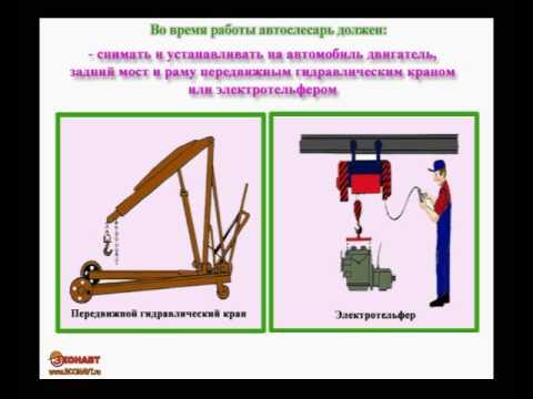 слесаря автомобилей ремонту по инструкция