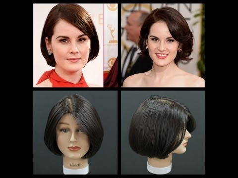 Michelle Dockery Haircut Tutorial - Short Layered Bob - TheSalonGuy