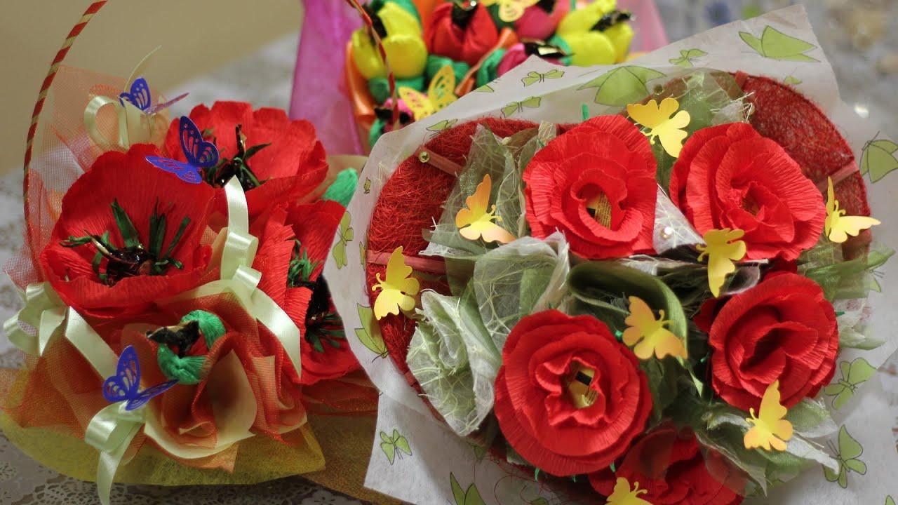 Букет тюльпаны из конфет мастер класс