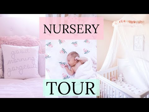 BABY GIRL NURSERY TOUR & DIY ORGANIZATION IDEAS