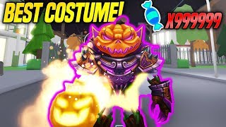 BEST SCARY COSTUME IN HALLOWEEN SIMULATOR! *OVERPOWERED* (Roblox)