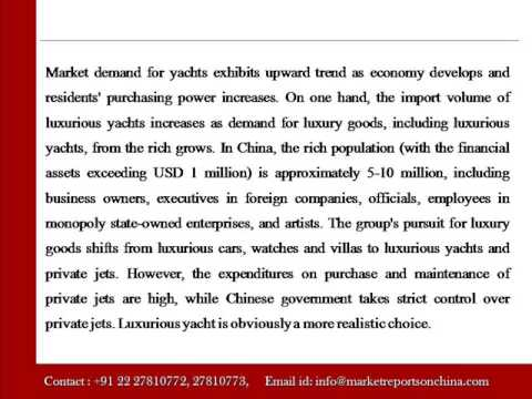 Research Report on Yacht Industry in China, 2014 2018