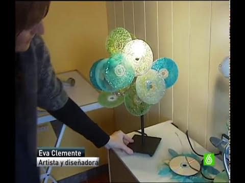 Reciclaje de Cds, reportaje en La Sexta, con Eva Clemente