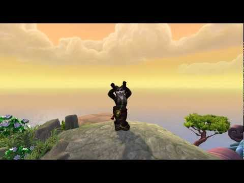 Female Pandaren Dance (with music) - [MoP BETA]