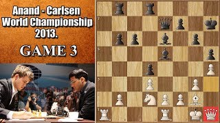 Vishy Imprisons the White Queen! | Anand vs Carlsen 2013. | Game 3