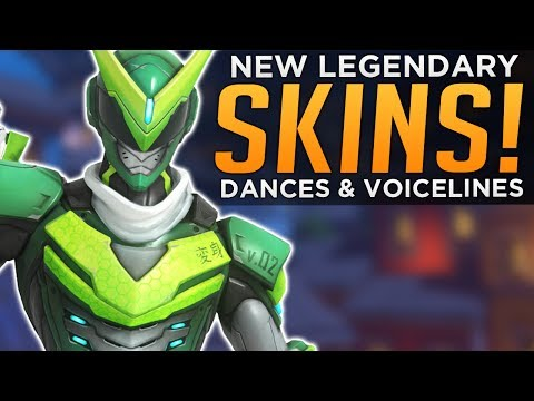 Overwatch: All NEW Skins & DANCES! - Voice Lines & Emotes!