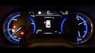 Rav4 Hybrid Display cockpit - Mirror display - Hidden menu