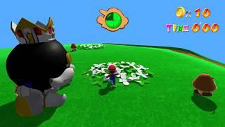 Super Mario 64 HD Remake Continued - The Complete Bob-omb Battlefield + Peach's Castle