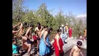 Pilgrims Taking Bath at Muktinath, Nepal