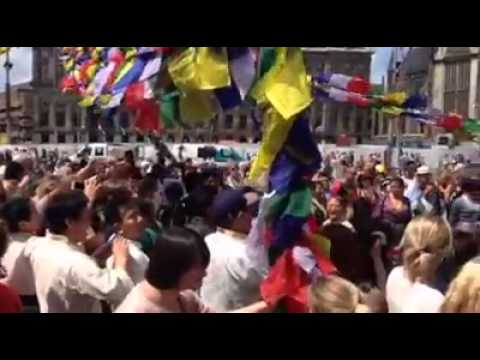 Tibetans & Friends Celebrating  of the H.H 14th DalaiLama 80th birthday in Holland