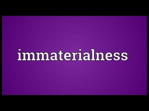 Header of immaterialness