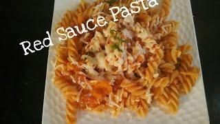 How To Make Red Sauce Pasta Recipe/Quick Recipe/Pasta With Simple Tomato Sauce Recipe/veg#259