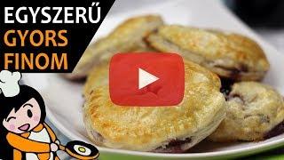 Áfonyás-krémsajtos párnácska - Recept Videók