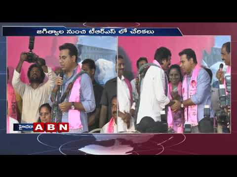 Minister KTR Speech at Telangana Bhavan, Various Party Leaders Joins in TRS Party