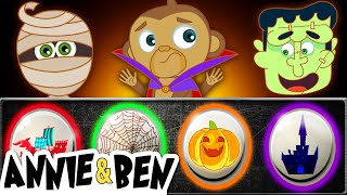 Halloween Funny Puzzle Game for Kids   Learn Colors with SPOOKY MONSTERS   Educational Videos