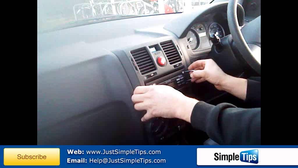 Radio Removal Hyundai Getz 2002 Present Justaudiotips
