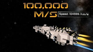 Space Engineers: 100,000 m/s THIS IS TOO FAST