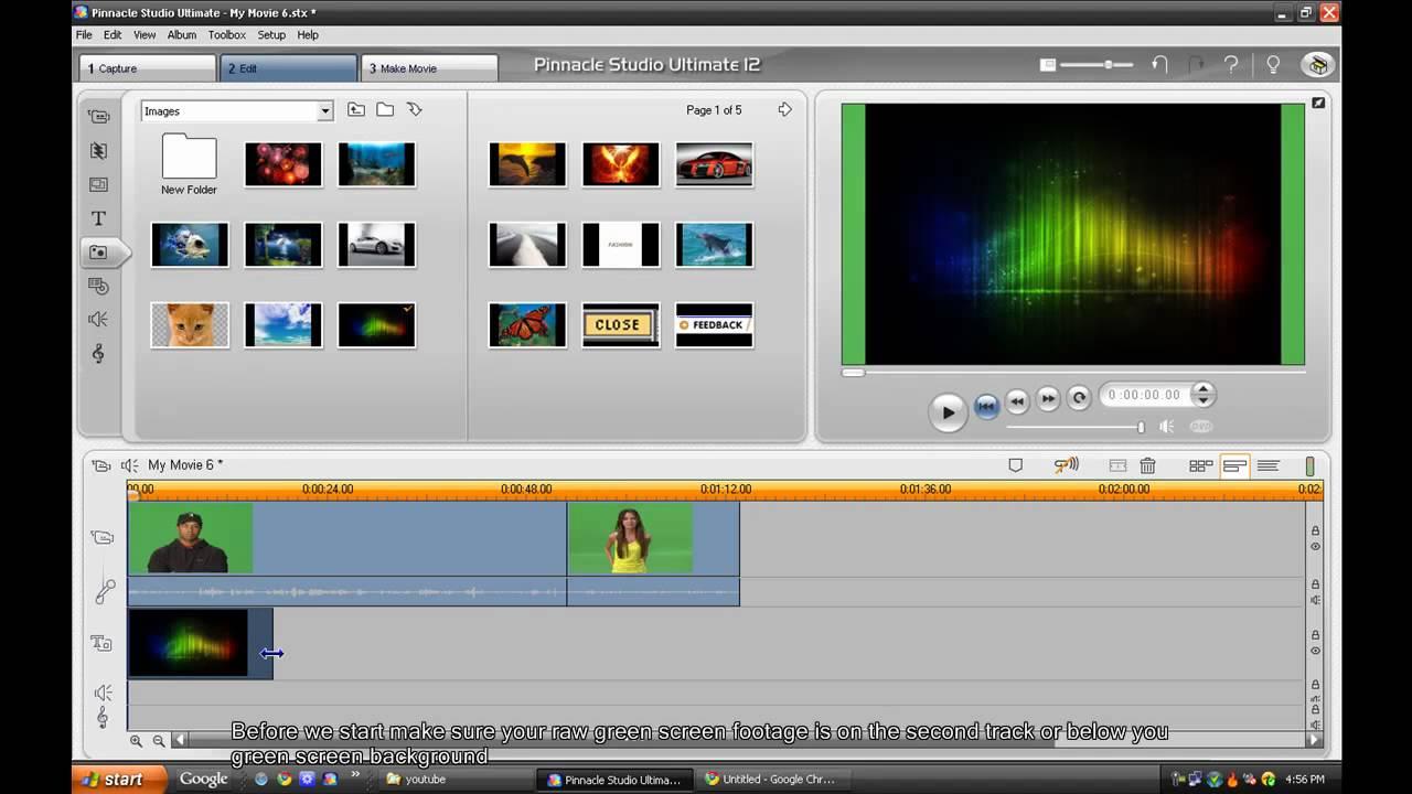 how to chroma key using Pinnacle Studio 12 - YouTube
